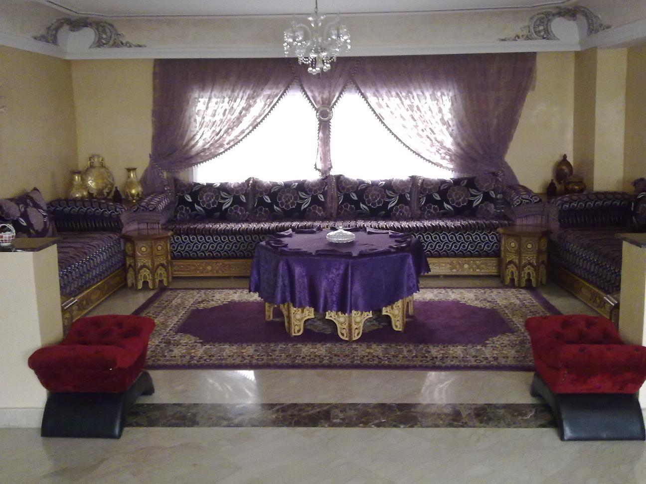 Best salon marocain mauve et gris contemporary awesome for Salon marocain nice